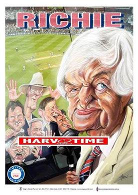 Richie Benaud Cricket, Harv Time Poster