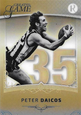 Peter Daicos, Gold Numbers Card, 2017 Regal Football Greats of the Game