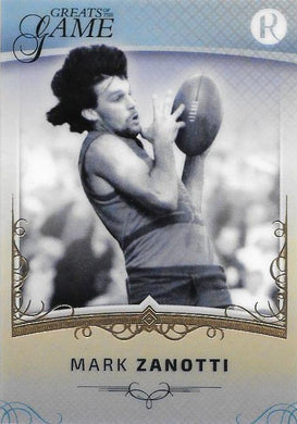 Mark Zanotti, Gold Parallel, 2017 Regal Football Greats of the Game