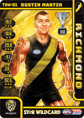 Dustin Martin, Premiership Trophy Star Wildcard, 2018 Teamcoach AFL