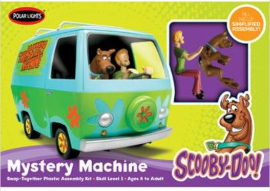 Scooby Doo Mystery Machine, Plastic Model Kit (Snap), 1:25 Scale
