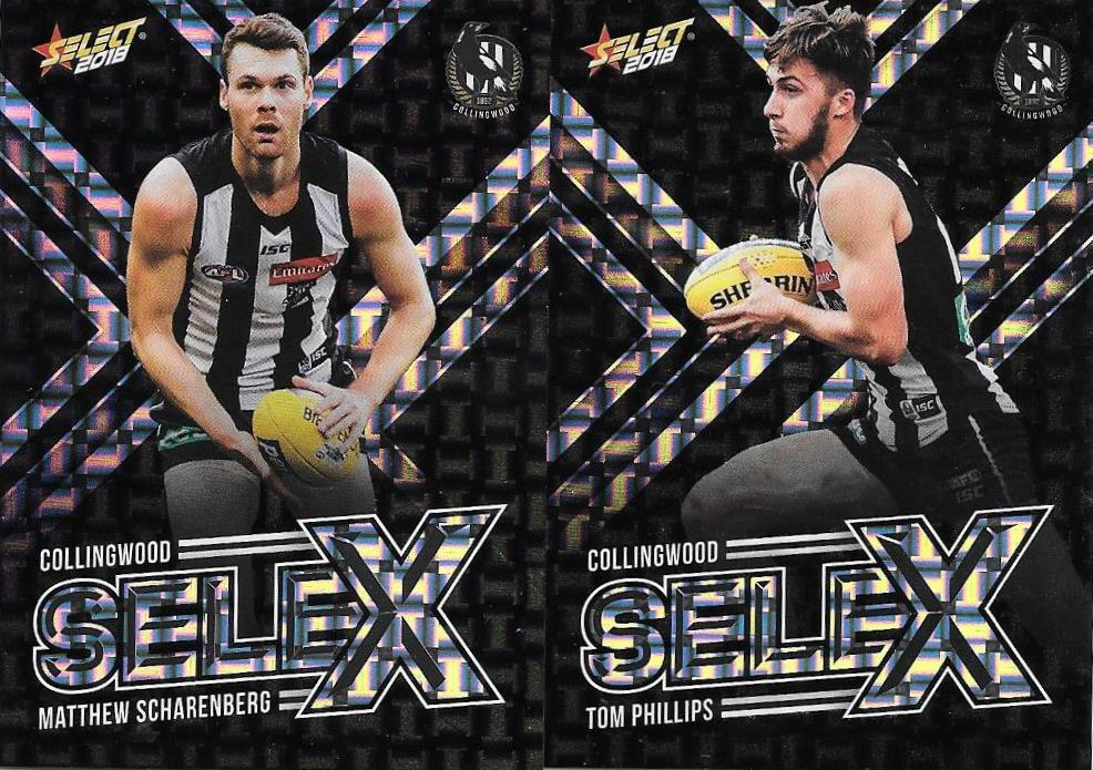 Collingwood Magpies, Selex Team set, 2018 Select AFL Footy Stars