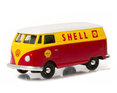 VW Type 2 Panel Van SHELL OIL Blue Collar Collection, 1:64 Diecast Vehicle