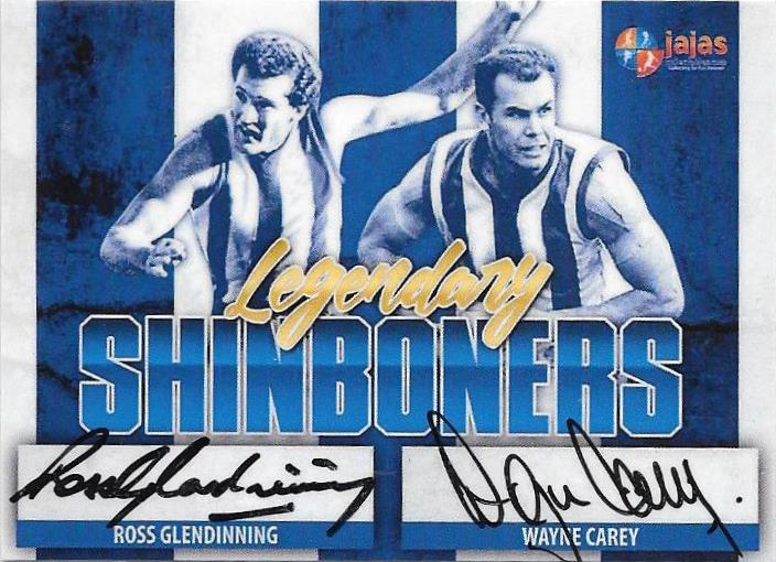 Ross Glendinning & Wayne Carey, Legendary Shinboners, Dual Signature, Ja Ja's Collectables