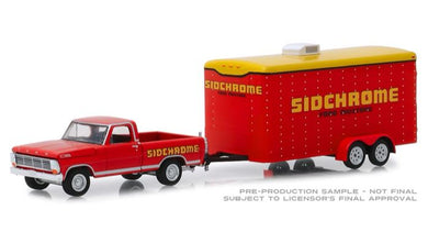 1967 Ford F-100 Sidchrome with Enclosed Car Hauler, 1:64 Diecast Vehicle