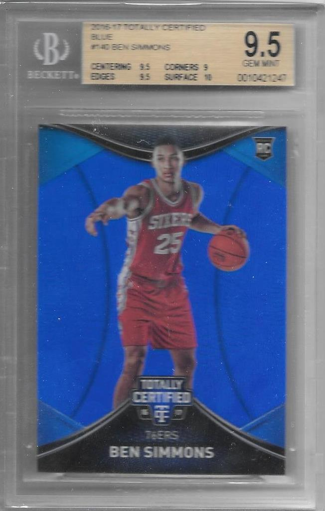 Ben Simmons, RC, 2016-17 Panini Totally Certified Blue, BGS 9.5