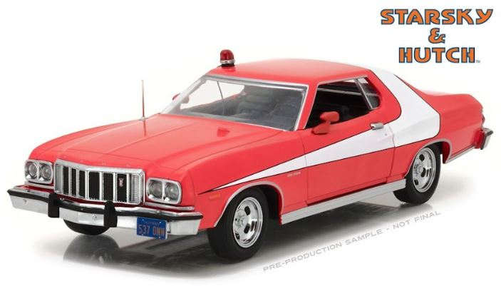 Starsky and Hutch 1976 Ford Gran Torino, 1:24 Diecast Vehicle