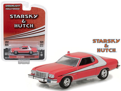 Starsky and Hutch 1976 Ford Gran Torino, 1:64 Diecast Vehicle