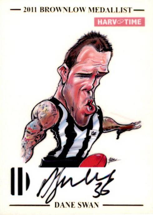 Dane Swan, HarvTime Signature Series card Limited Edition #'d to 50