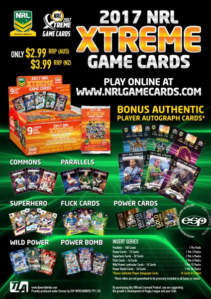 2017 esp Extreme NRL 24 pack box