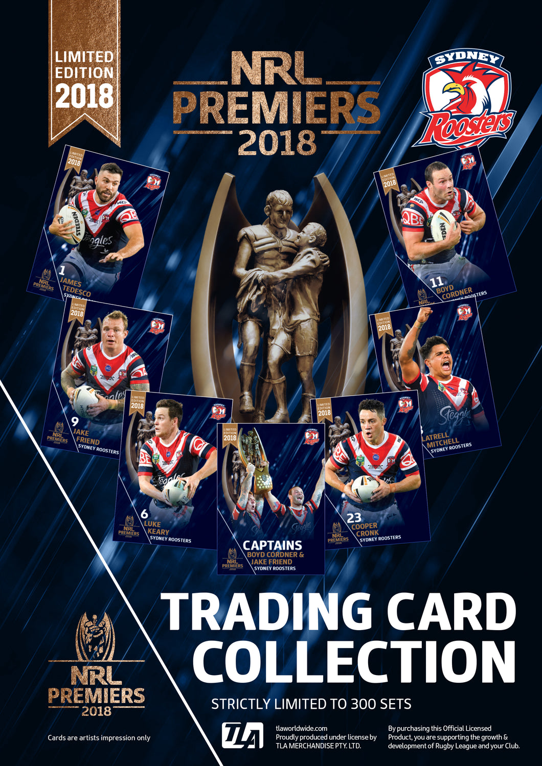 2018 Sydney Roosters Premiers card set