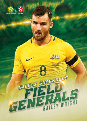 Bailey Wright, Caltex Socceroos Field Generals, 2018 Tap'n'play Soccer Trading Cards