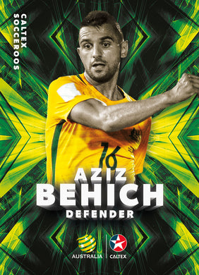 Aziz Behich, Caltex Socceroos Base card, 2018 Tap'n'play Soccer Trading Cards