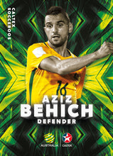 Aziz Behich, Caltex Socceroos Parallel card, 2018 Tap'n'play Soccer Trading Cards