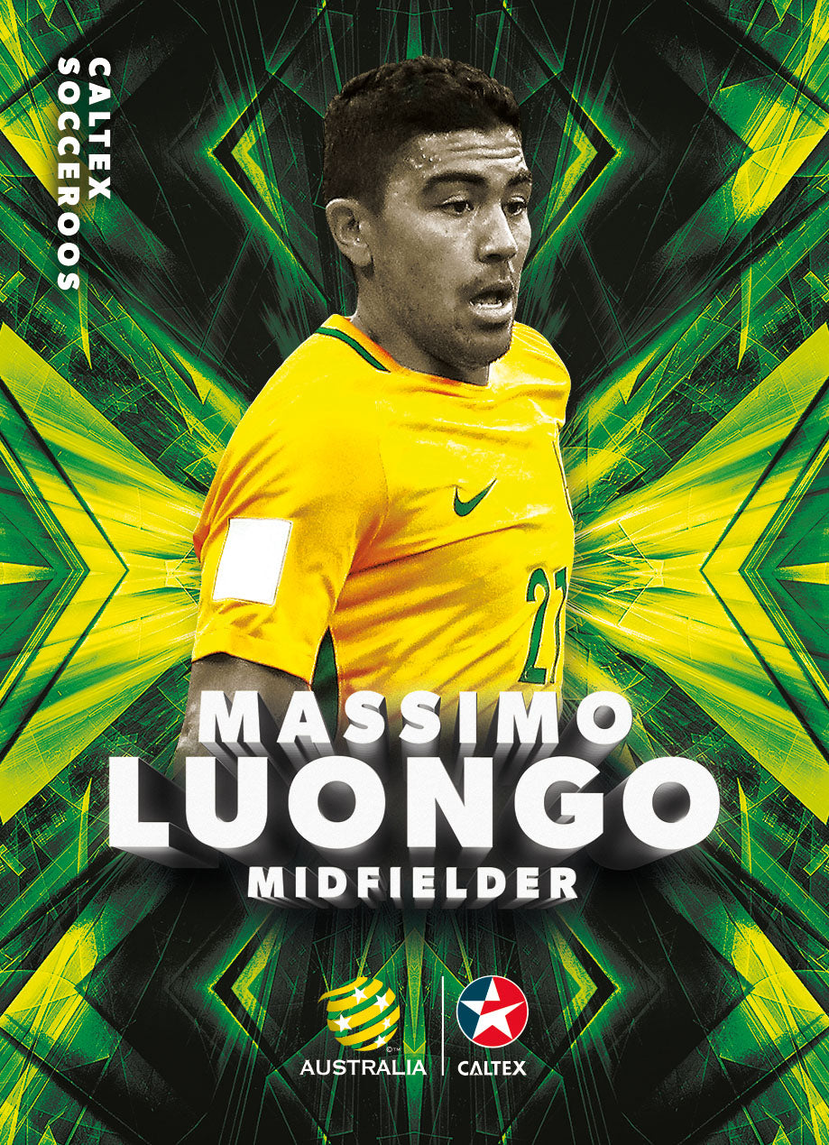 Massimo Luongo, Caltex Socceroos Base card, 2018 Tap'n'play Soccer Trading Cards