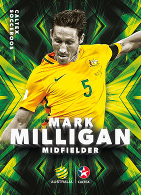 Mark Milligan, Caltex Socceroos Base card, 2018 Tap'n'play Soccer Trading Cards