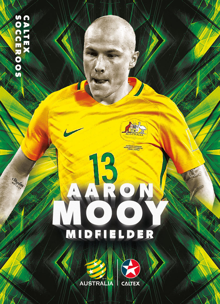 Aaron Mooy, Caltex Socceroos Base card, 2018 Tap'n'play Soccer Trading Cards
