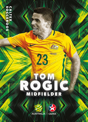 Tom Rogic, Caltex Socceroos Parallel card, 2018 Tap'n'play Soccer Trading Cards