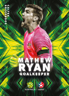 Mathew Ryan, Caltex Socceroos Base card, 2018 Tap'n'play Soccer Trading Cards