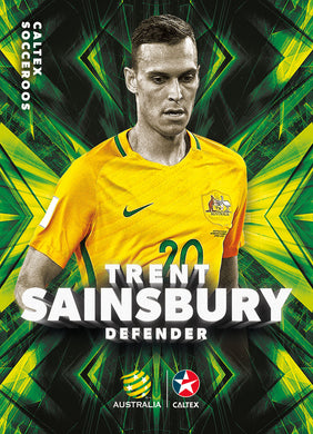 Trent Sainsbury, Caltex Socceroos Base card, 2018 Tap'n'play Soccer Trading Cards
