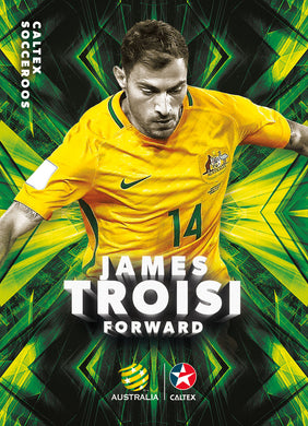 James Troisi, Caltex Socceroos Parallel card, 2018 Tap'n'play Soccer Trading Cards