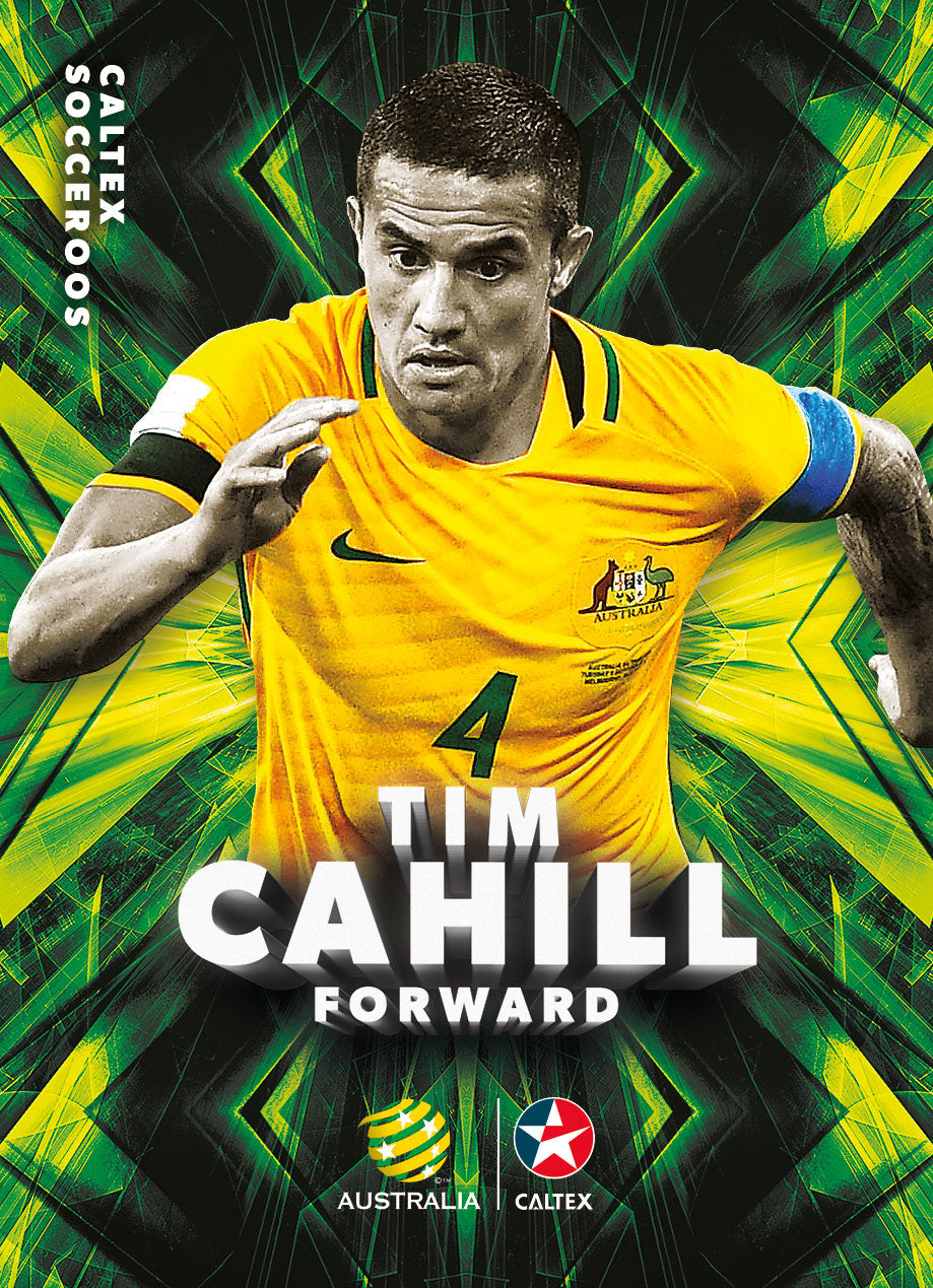 Caltex Socceroos Parallel Set of 22 cards, 2018 Tap'n'play Soccer Trading Cards