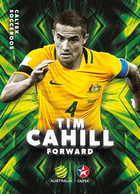 Tim Cahill, Caltex Socceroos Parallel card, 2018 Tap'n'play Soccer Trading Cards