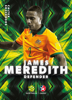 James Meredith, Caltex Socceroos Parallel card, 2018 Tap'n'play Soccer Trading Cards