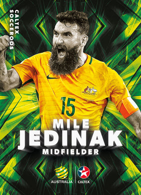 Mile Jedinak, Caltex Socceroos Base card, 2018 Tap'n'play Soccer Trading Cards