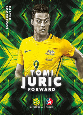 Tomi Juric, Caltex Socceroos Parallel card, 2018 Tap'n'play Soccer Trading Cards