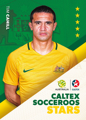 Caltex Socceroos Stars Set of 8 cards, 2018 Tap'n'play Soccer Trading Cards