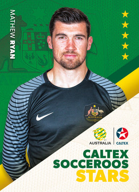 Mathew Ryan, Caltex Socceroos Stars, 2018 Tap'n'play Soccer Trading Cards