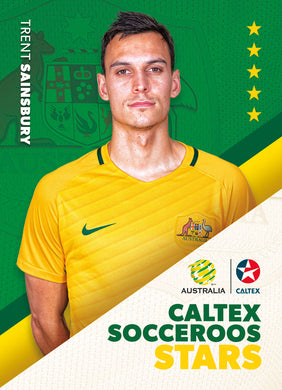 Trent Sainsbury, Caltex Socceroos Stars, 2018 Tap'n'play Soccer Trading Cards