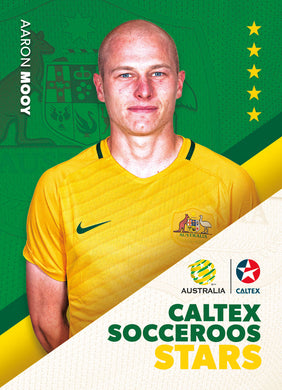Aaron Mooy, Caltex Socceroos Stars, 2018 Tap'n'play Soccer Trading Cards