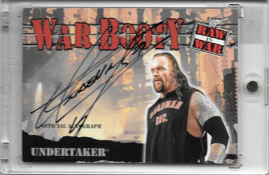 Undertaker, Autographed War Booty, 2001 Fleer WWF Raw is War