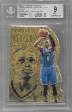 Russell Westbrook, Intriguing Players Die-Cut Gold, 2013-14 Panini Intrigue, BGS 9