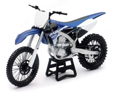 Yamaha YZ450F 2017 Dirt Bike, 1:12 Diecast with Plastic
