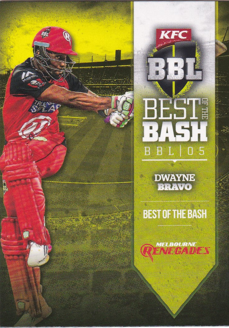 2016-17 Tap'n'play CA BBL 05 Cricket, Best of the Bash, Dwayne Bravo, AW-07