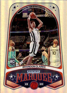 Brandon Clarke, RC, Marquee, 2019-20 Panini Chronicles NBA Basketball