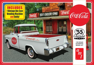 Coca-Cola, 1955 Chevy Cameo Pickup, 1:25 Scale Model Kit