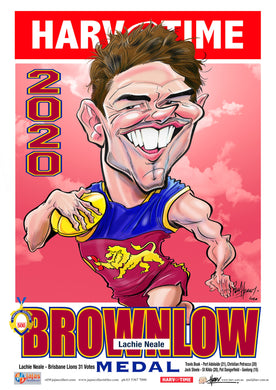 Lachie Neale, 2020 Brownlow, Harv Time Poster
