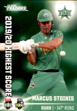 Marcus Stoinis, Top 10, Highest Score, 2020-21 TLA Cricket Australia and BBL