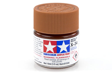 TAMIYA ACRYLIC MINI X-34 METALLIC BROWN 10ml