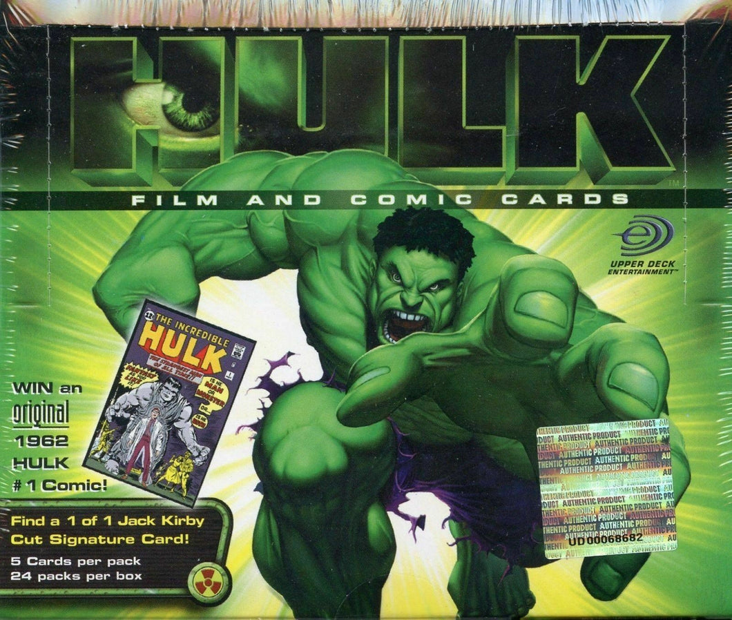HULK, Film & Comic Cards, Sealed Box, 2003 Upper Deck