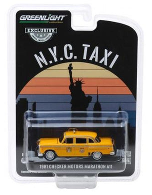 1981 Checker Motors Marathon A11 NYC Taxi Cab, 1:64 Diecast Vehicle
