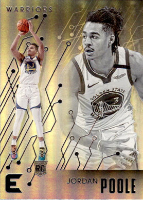 Jordan Poole, RC, Essentials, 2019-20 Panini Chronicles NBA Basketball
