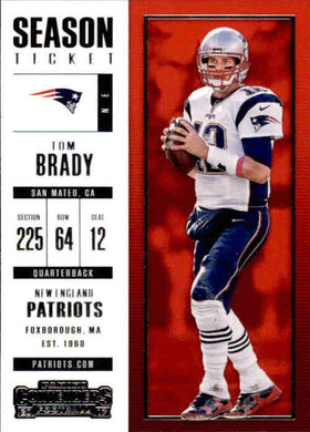 Tom Brady, 2017 Panini Contenders Football NFL