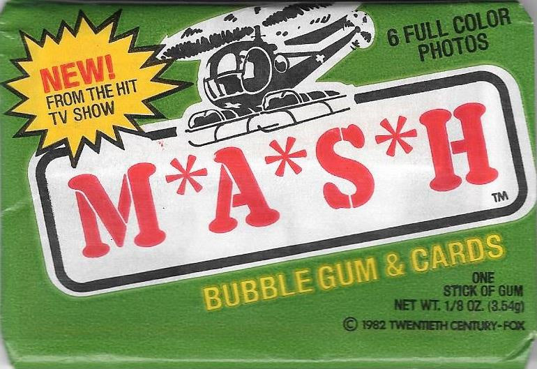 1982 Donruss M.A.S.H Wax Pack of Cards