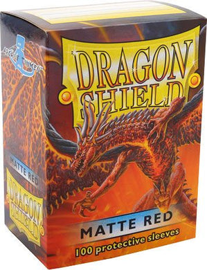 Sleeves - Dragon Shield - Box 100 - Red MATTE