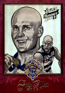 Gary Ablett, Brownlow Sketch, 2014 Select AFL Honours 2